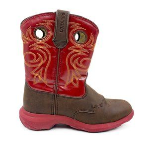 Durango Youth Leather Western Rodeo Cowboy Boots